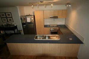 Kitchen benchtops Gold Coast - before resurfacing